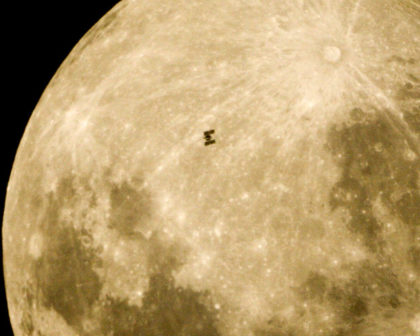 space station moon