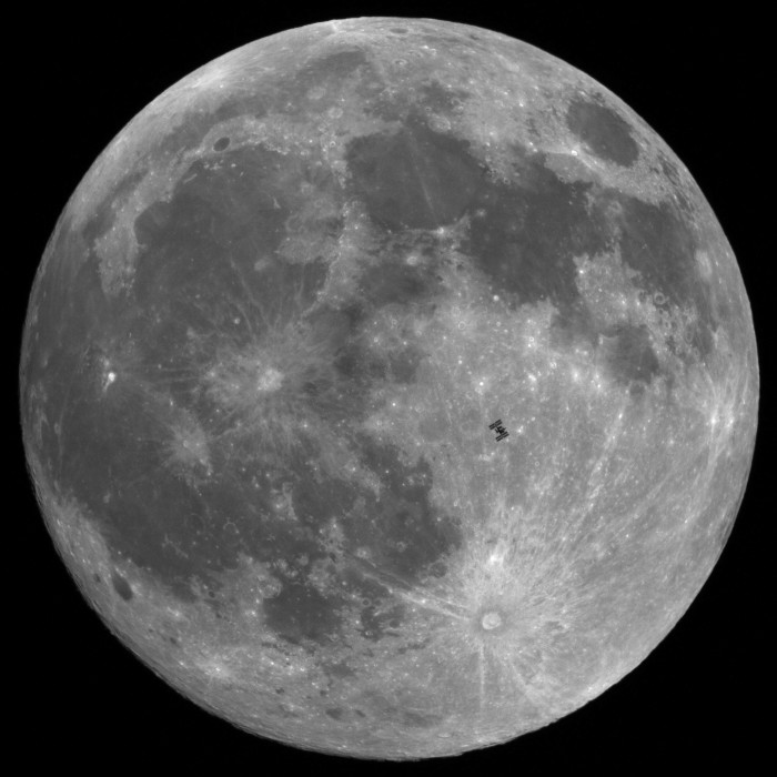 Lunar transit of the International Space Station