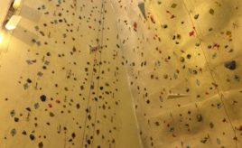 Visiting a climbing wall