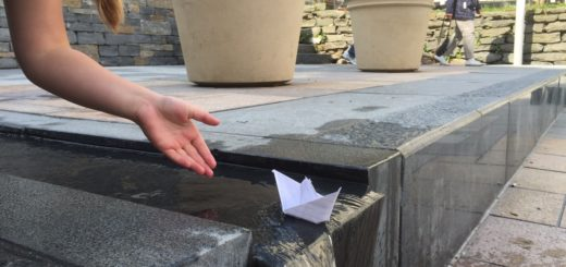 Playing with paperboats